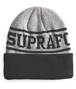 SUPRA kulich Renowned Beanie Grey Htr/ Black