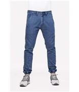 REELL kalhoty Jogger Pant Premium Mid Blue