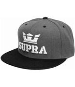 SUPRA kšiltovka Above Snap Charcoal Htr/Black