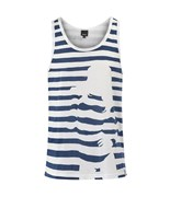 BENCH tílko Stripey Chick Vest  White