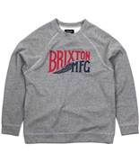 BRIXTON mikina Coventry Crew Fleece Heather Grey