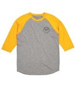 BRIXTON triko Wheeler Heather Grey/Yellow