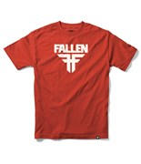 FALLEN triko Insignia Logo Blood Red/White