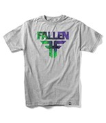 FALLEN triko Insignia Heather Grey/Green/Purple Acid