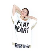 K1X triko Play Heart White/Black