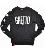 KREAM mikina Poetry Ghetto Black/White