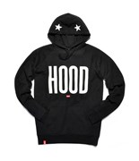 KREAM mikina Poetry Hoody Black/White