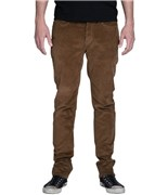 KREW kalhoty Bots K Slim 5 Pocket Medium Brown