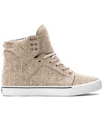 SUPRA boty Skytop High Pale/Khaki - White