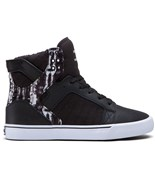 SUPRA boty Skytop High Black/Paint Stripe - White