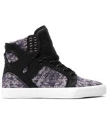 SUPRA boty Skytop High Snake/Black - White