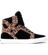 SUPRA boty Skytop Black/Cheetah - White