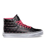 VANS boty Sk8-Hi Slim (Leather Perf Hearts) Black/True White