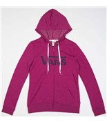 VANS mikina Authentic Logo Zip Magenta Heather