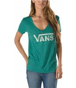 VANS triko Authentic Logo V N Sea Green